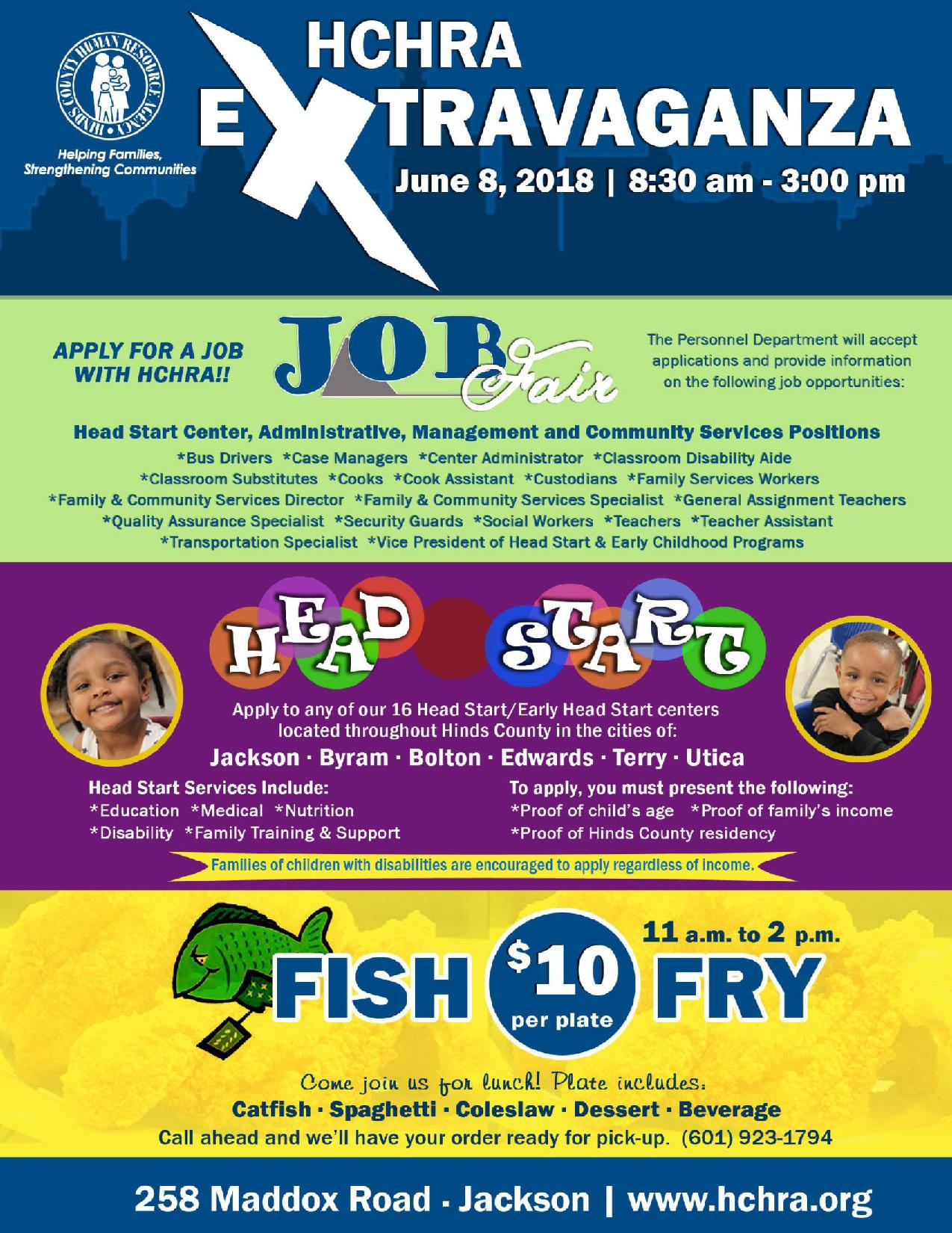Head Start Recruitment And Job Fair Extravaganza Friday June 8th